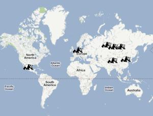 Carte du monde des pandaranols